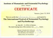 The International Festival of Existential Phychology and Psychotherapy, June 06-12, 2016, in Samara